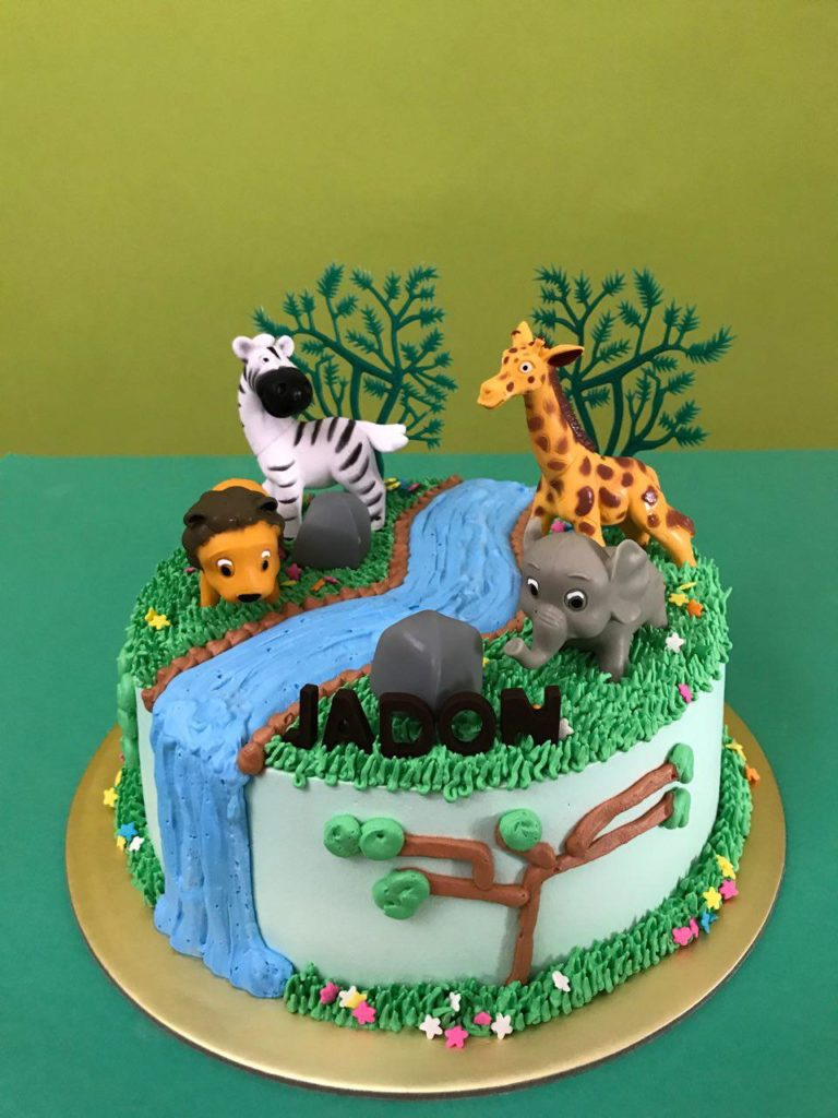 1 Tier Safari Toppers By Customer