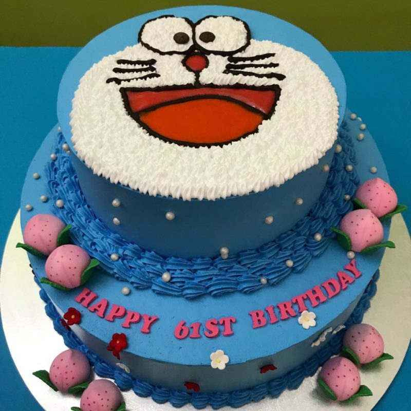 2-tier Doraemon Peach