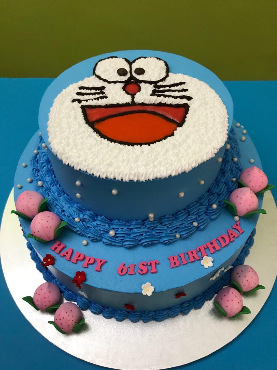 2-tier Doraemon Peach