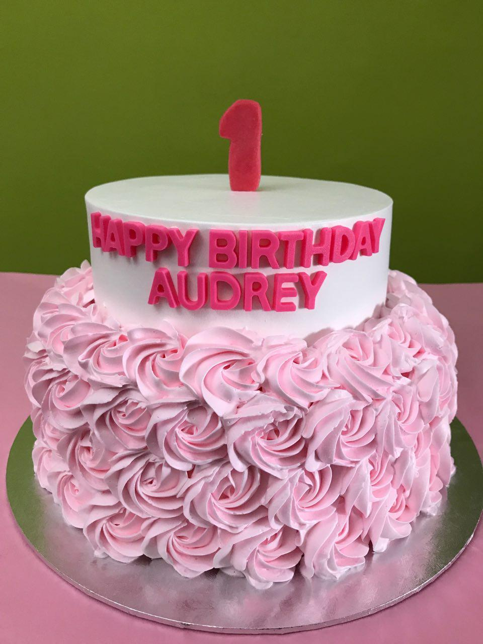 2-tier Light Pink Rosette