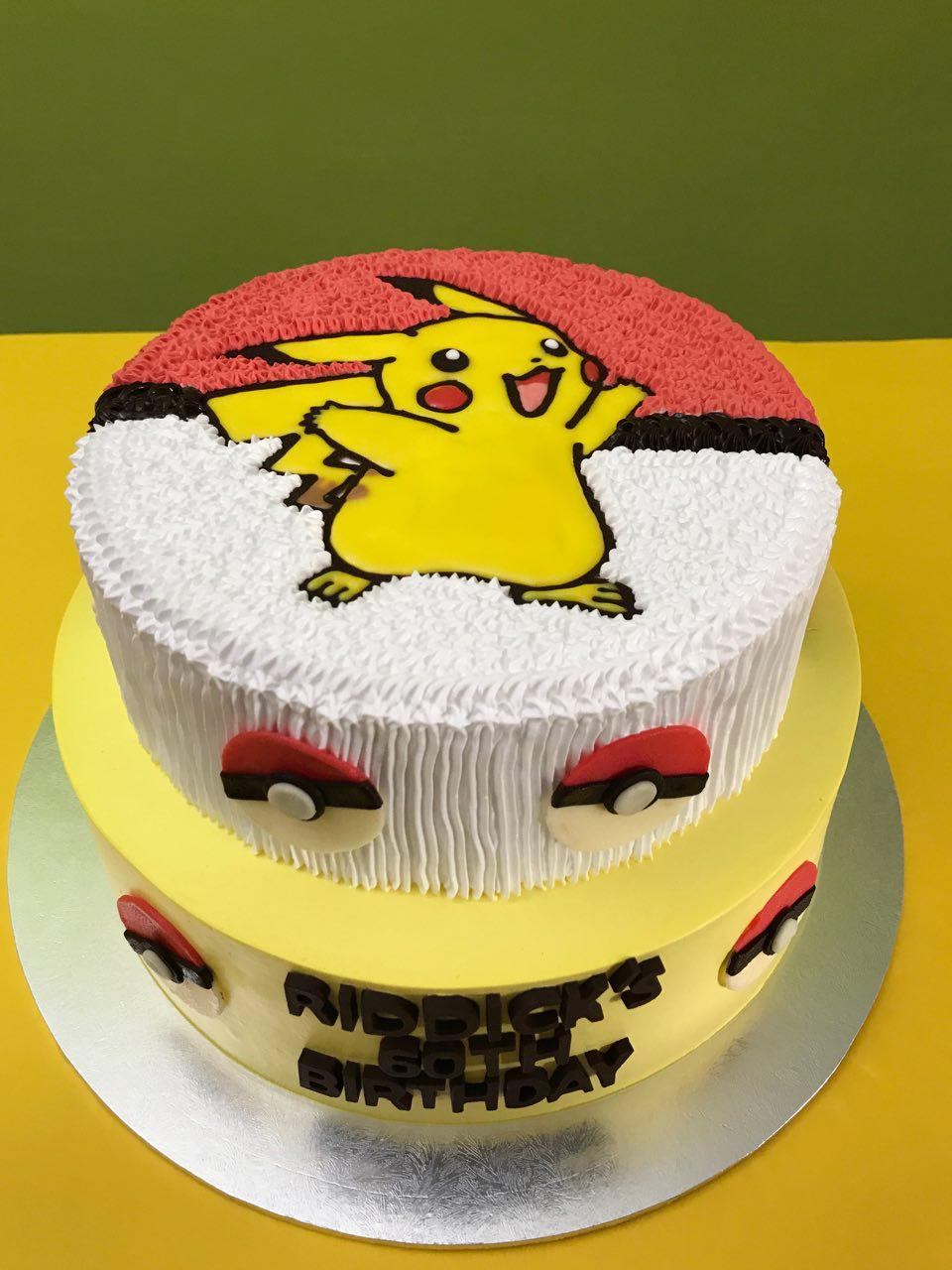 2-tier Pikachu with Pokeballs