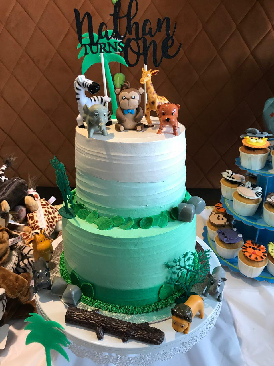 2-tier Safari Ombre Green
