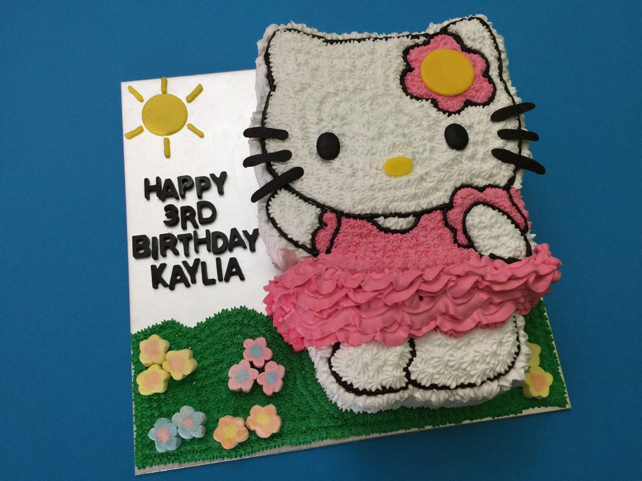 2D Hello Kitty in Garden