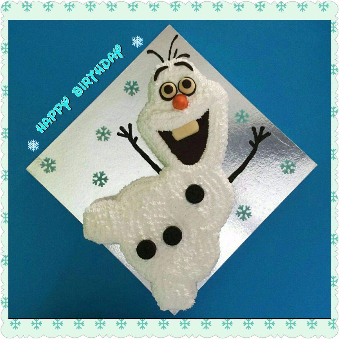 2D Olaf Cake