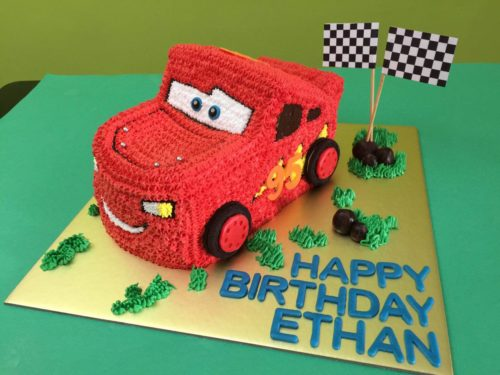 3D Lightning Mcqueen Car Fresh Cream