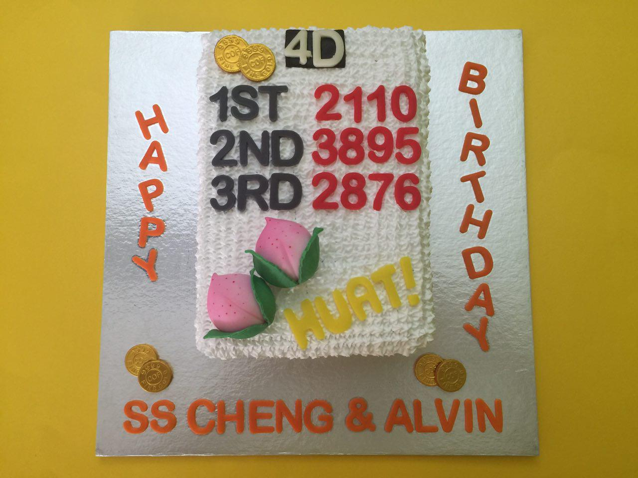 4D Lottery with Shou Tao Cake