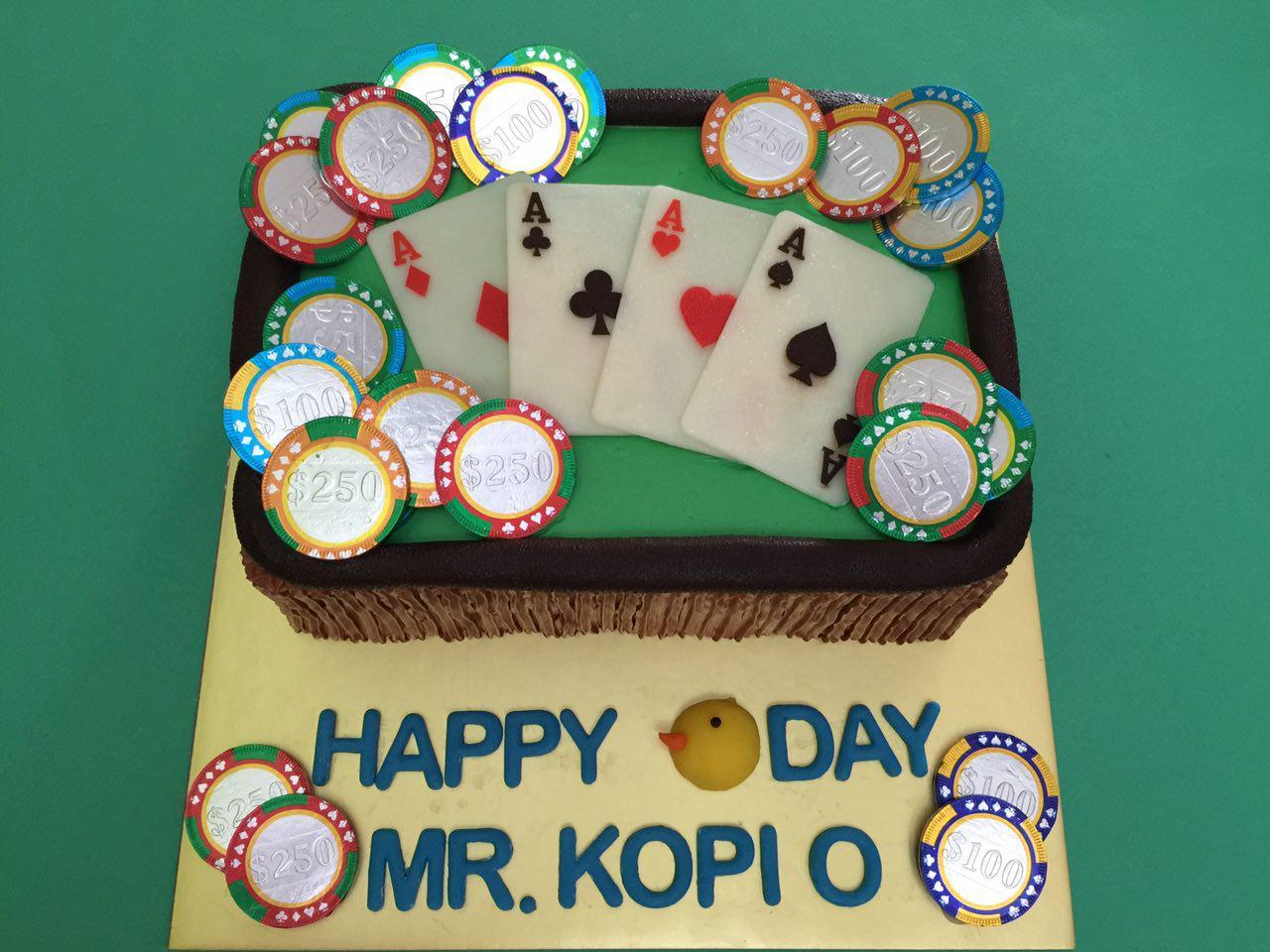 Casino Poker Cake