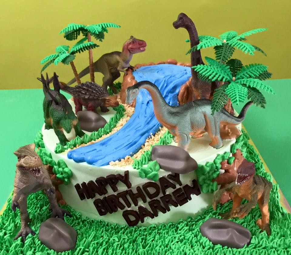 Dinosaur World Cake