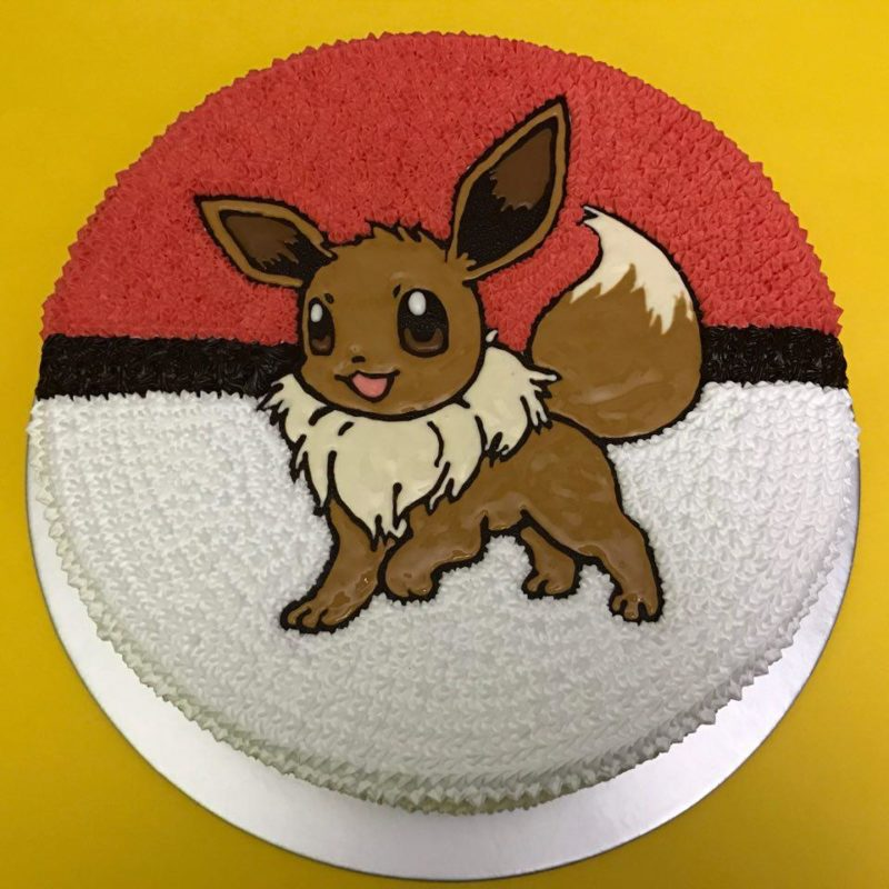 Eevee on Pokeball