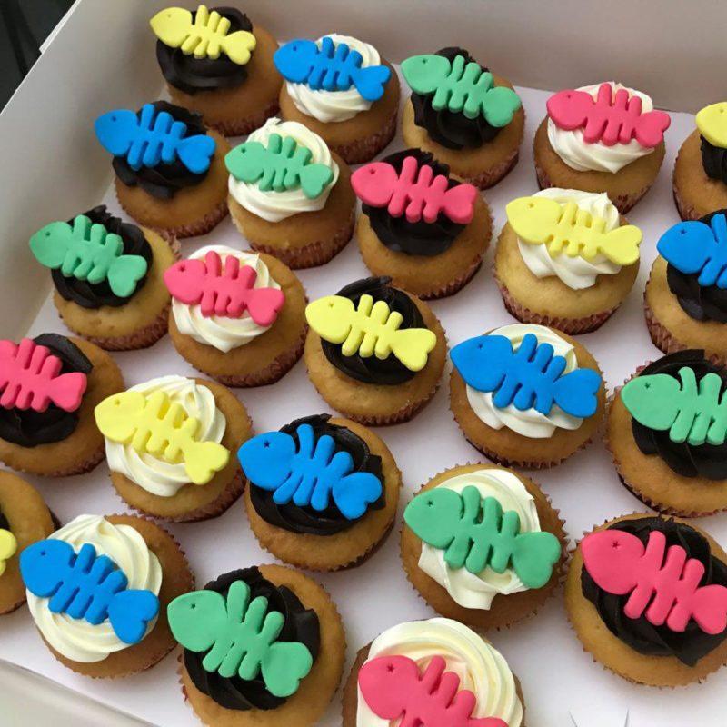 Fish Bone Cupcakes