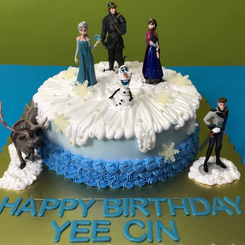Frozen Characters Cake In Singapore