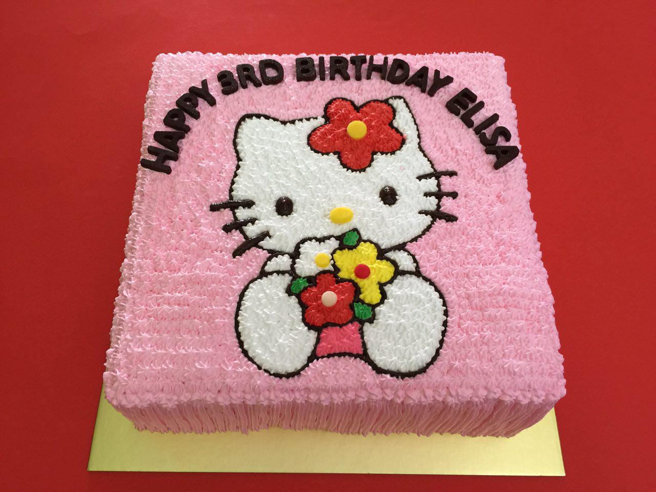 Hello Kitty Flower Cake
