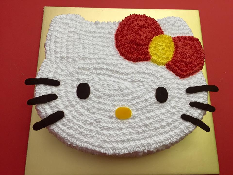 2D Hello Kitty Head Cake