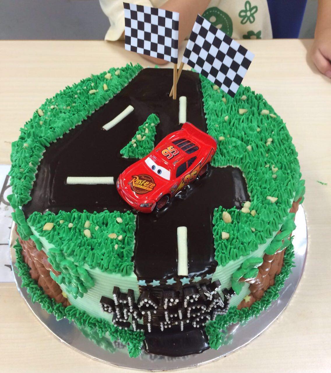Mcqueen No.4 Road Cake