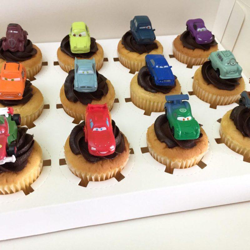 Mcqueen Car Topper Cupcake