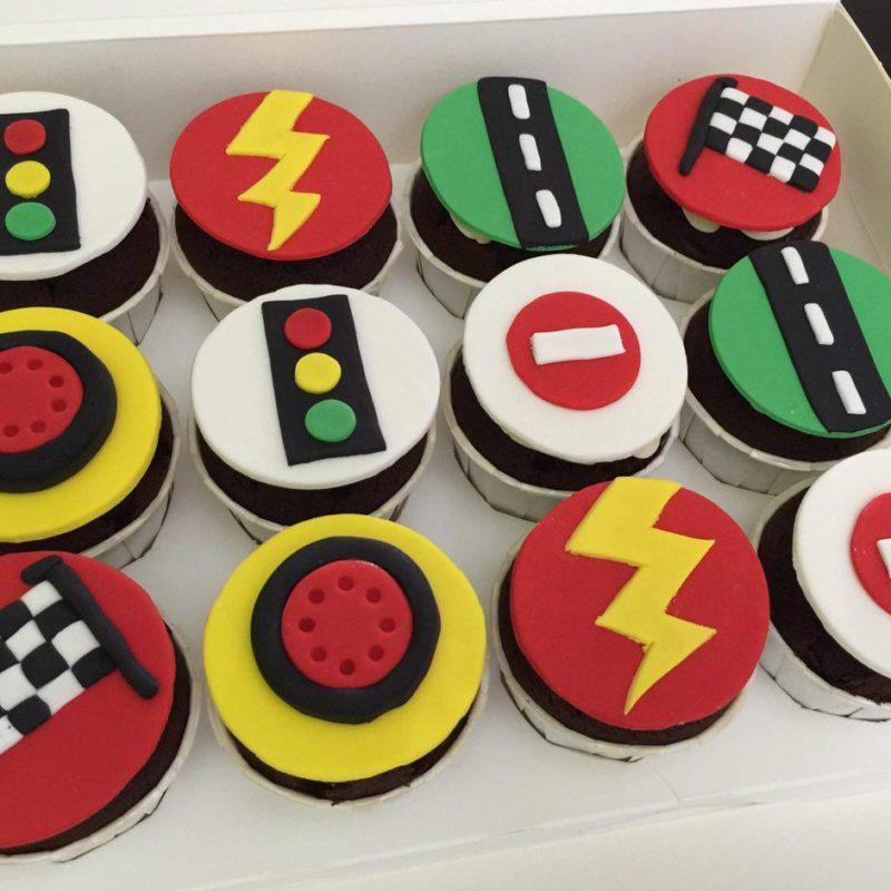 McQueen Traffic Cupcakes