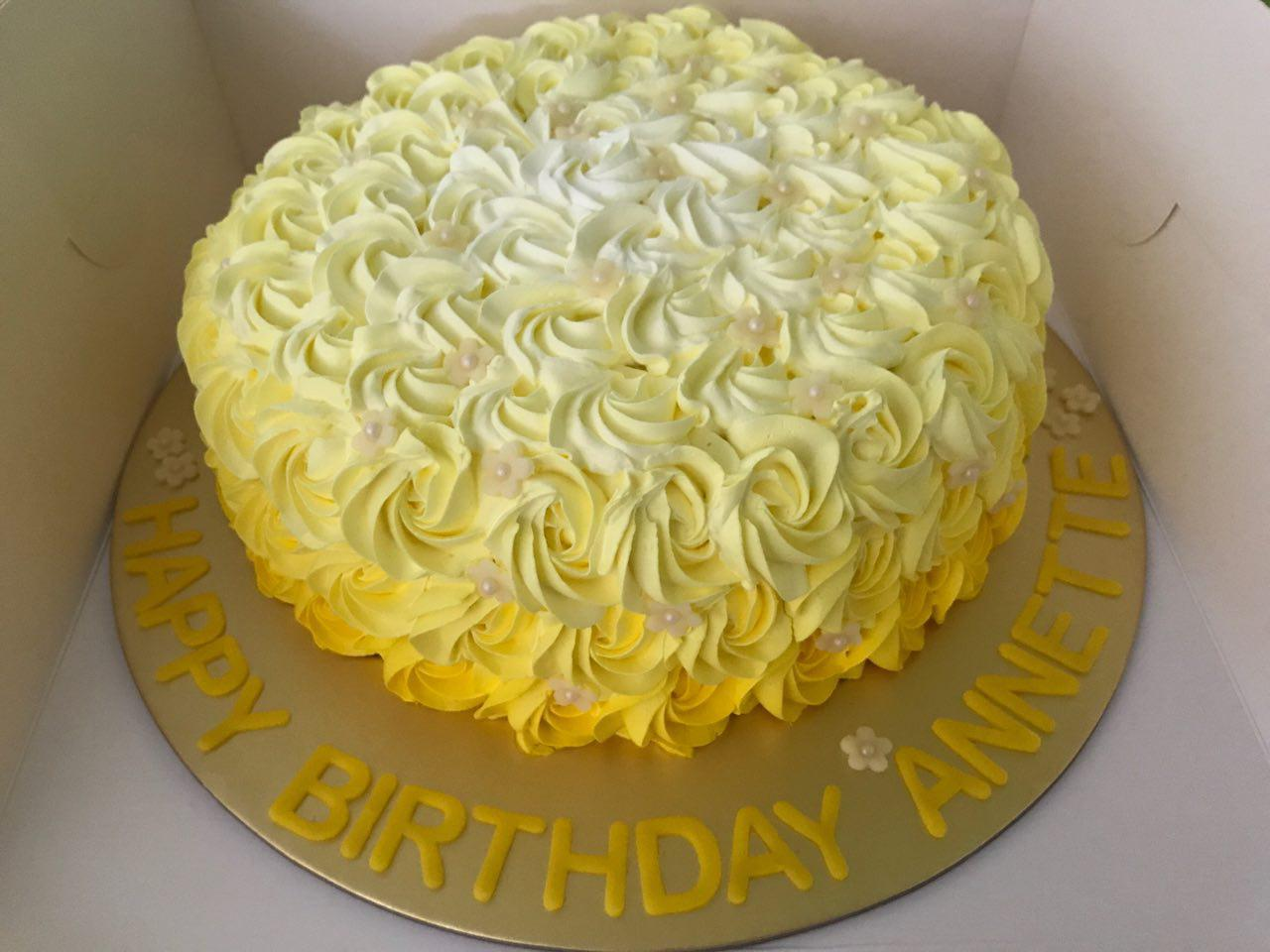 Ombre Yellow Rosette
