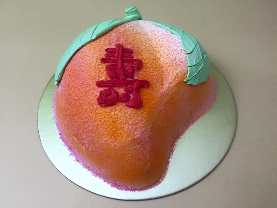 Longevity Peach Cake - 2D