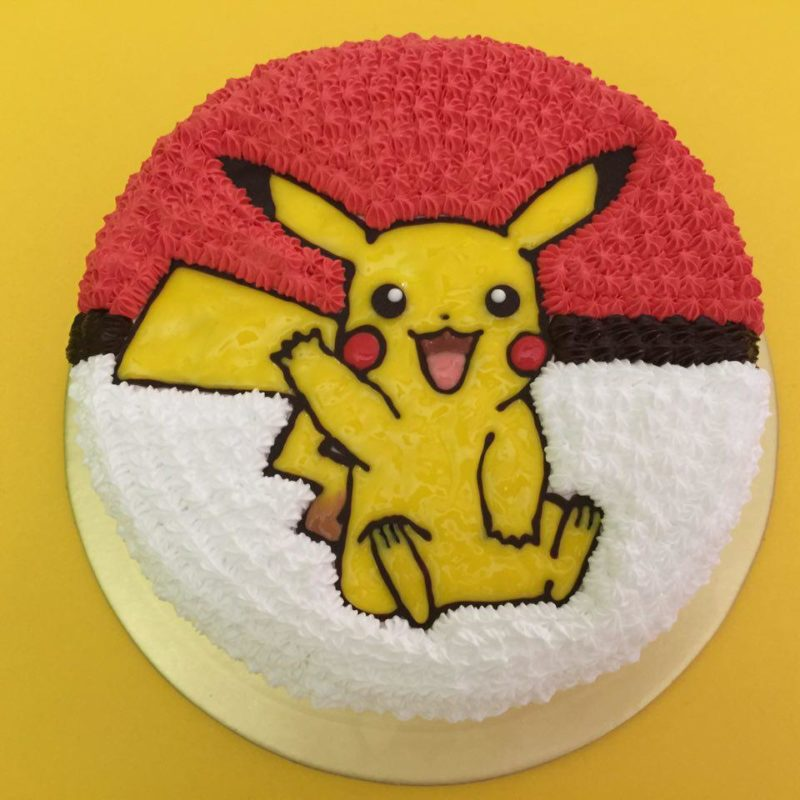 Pikachu Waving on Pokeball