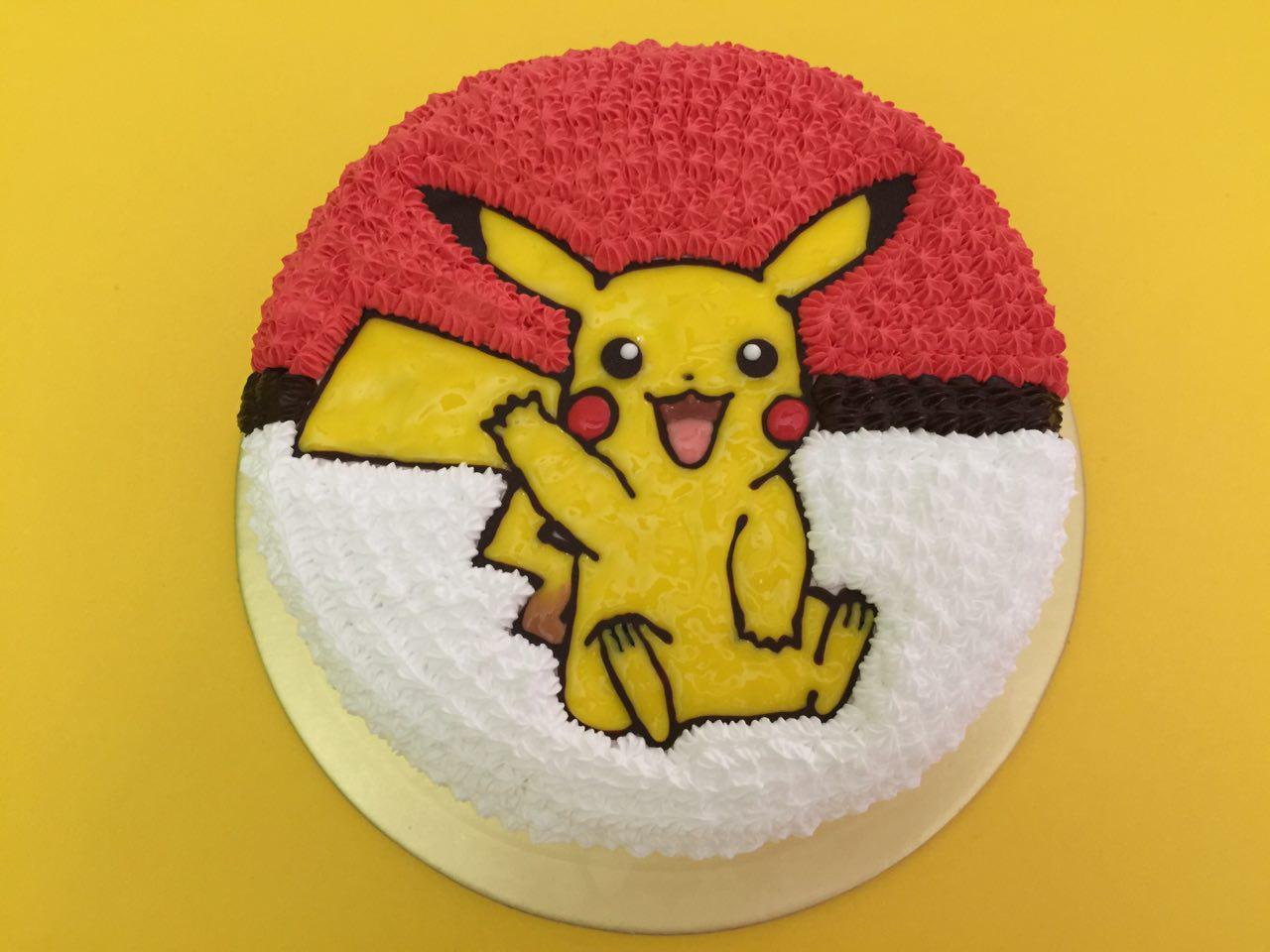 Pikachu Waving on Pokeball