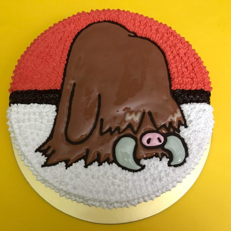 Piloswine on Pokeball