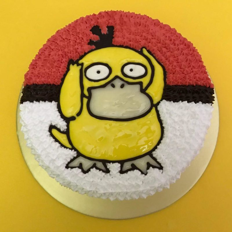 Psyduck on Pokeball