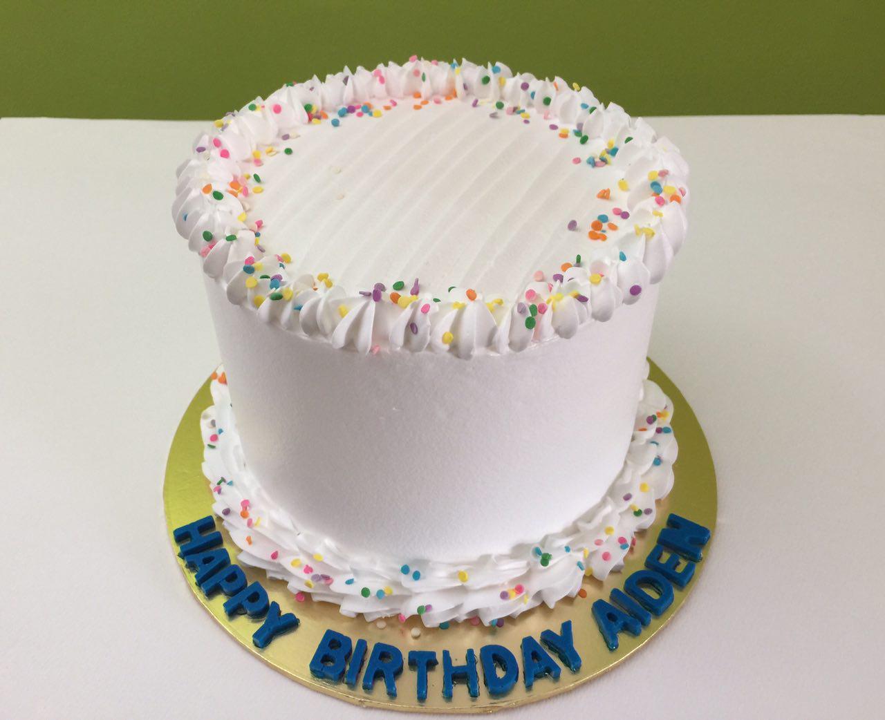 Rainbow Flakes Cake