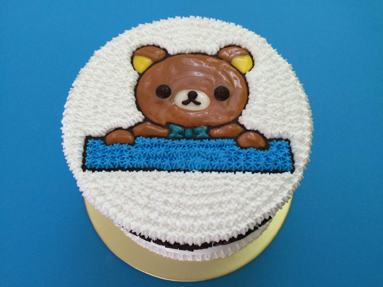 Rilakkuma Blue Bow Cake