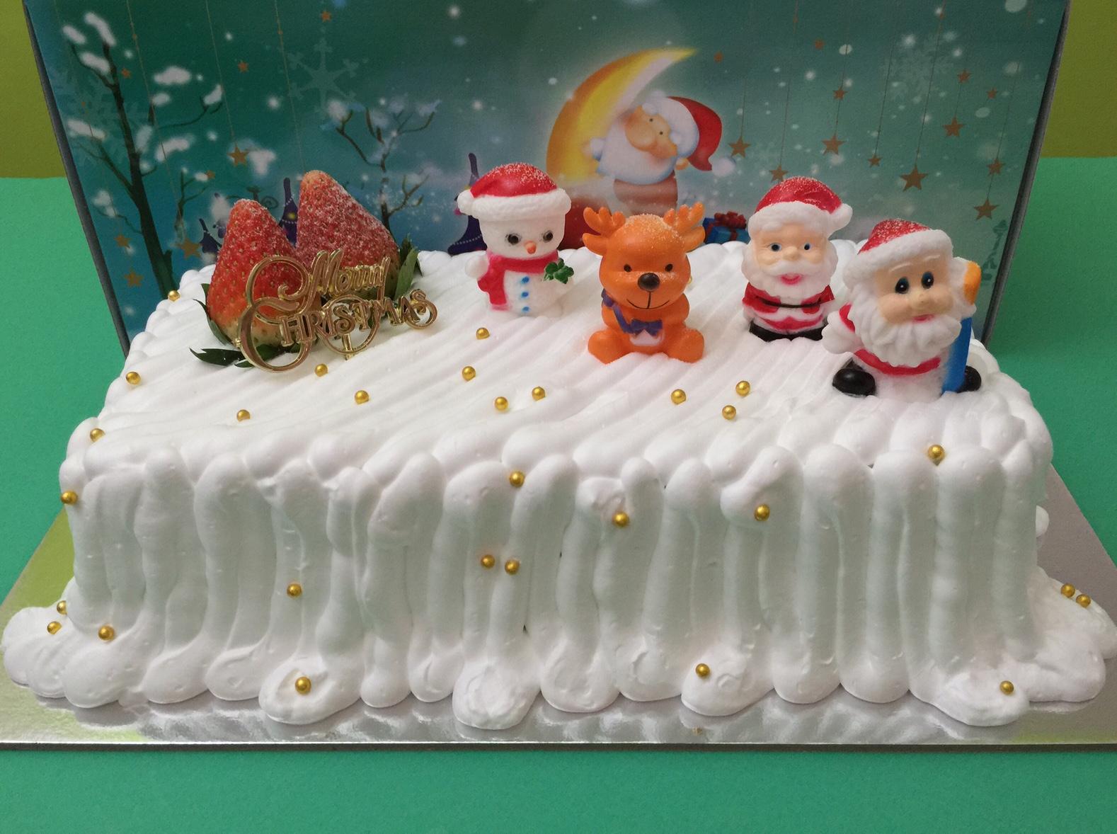 Snowy Log Cake