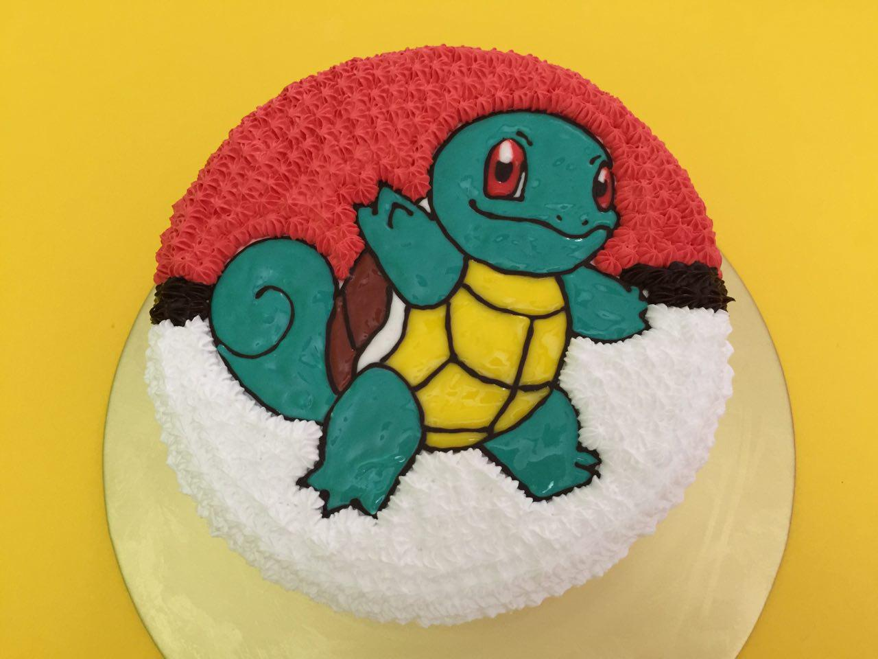 Squirtle on Pokeball